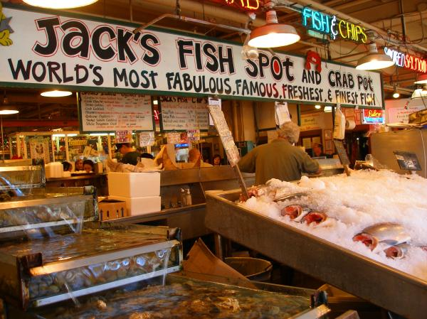 Jacks fish spot and crab pot seattle pike place market by for Fish market in seattle