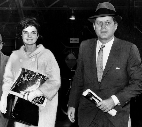 Jacqueline Kennedy And John F. Kennedy Print by Everett
