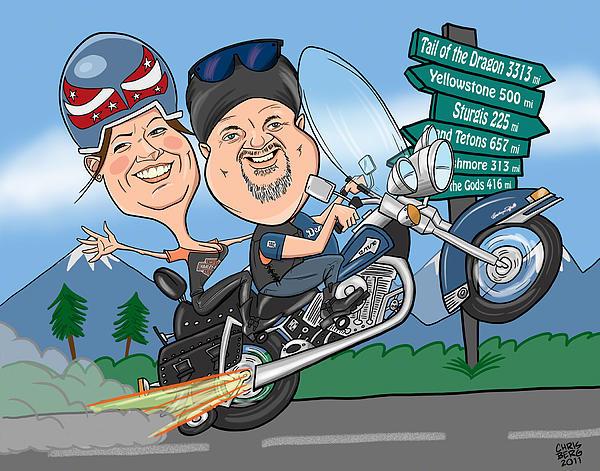 Jaime Caricature Print by Chris Berg