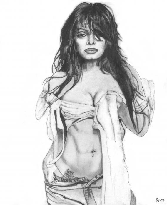 Janet Jackson Print by Russell Griffenberg