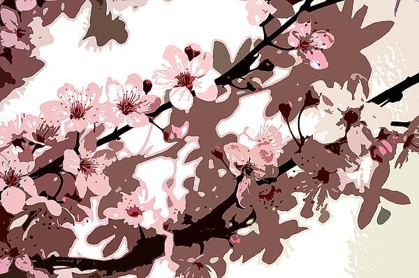 Japanese Blossom Print by Sarah O Toole