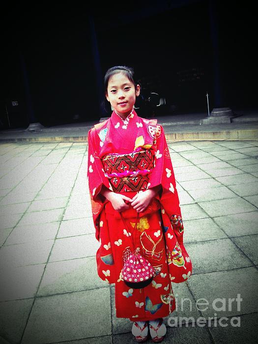 Japanese Girl Print by Eena Bo