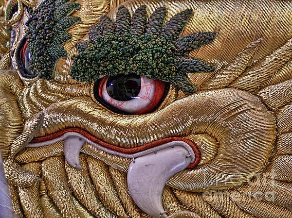 Japanese Golden Dragon Print by Alexandra Jordankova