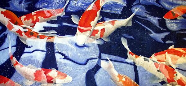 Japanese koi painting for Japanese koi art prints
