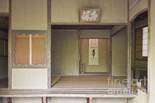 Japanese Tea Room Print by Rob Tilley