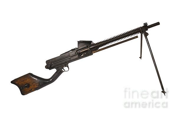 Japanese Type 11 Light Machine Gun Print by Andrew Chittock