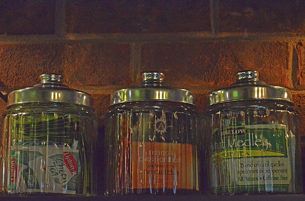 Jars Of Assorted Teas Print by Sandi OReilly