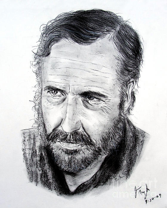 Jason Robards Print by Jim Fitzpatrick