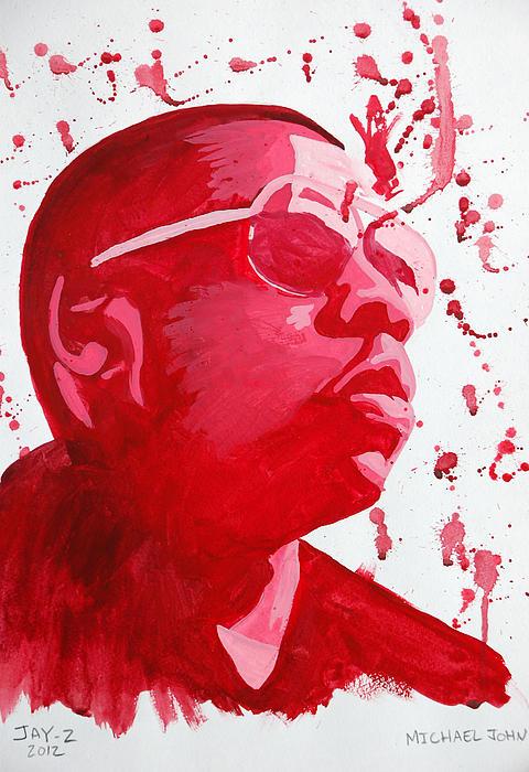 Jay-z Print by Michael Ringwalt