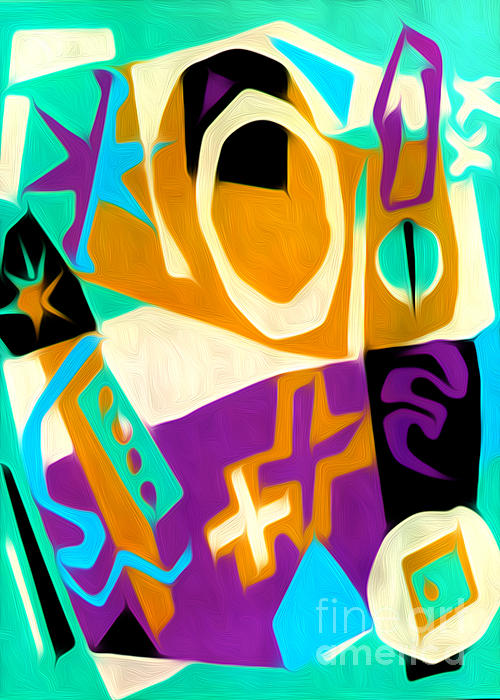 Jazz Art - 01 Print by Gregory Dyer