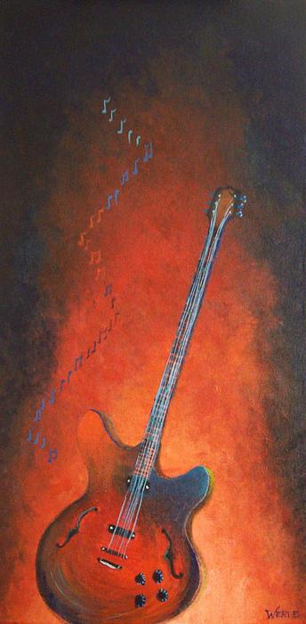 Jazz Guitar Print by Bill Werle