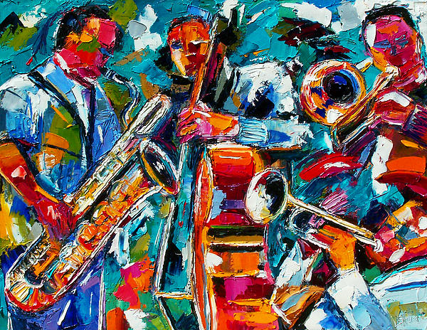 Jazz Magic Print by Debra Hurd
