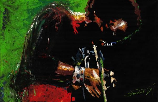 Jazz Miles Davis 1 Print by Yuriy  Shevchuk