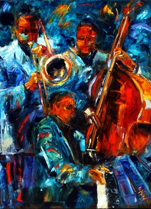 Jazz Pals Print by Debra Hurd