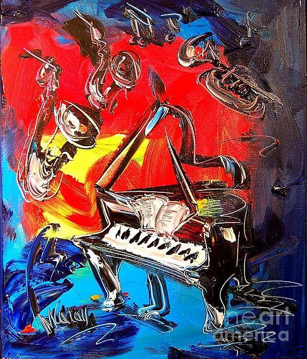 Jazz Piano Print by Mark Kazav
