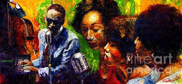 Jazz  Ray Song Print by Yuriy  Shevchuk