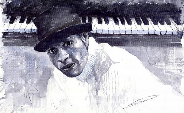 Jazz Roberto Fonseca Print by Yuriy  Shevchuk