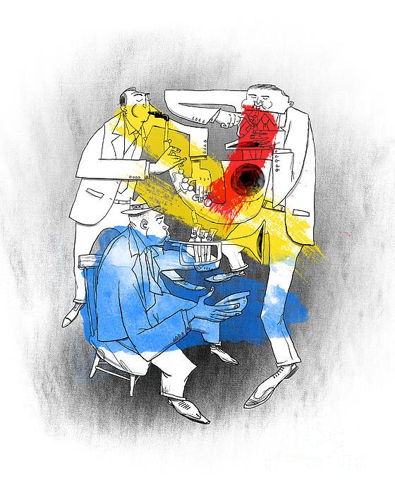Jazz Trio Print by Sean Hagan