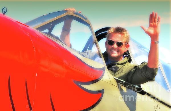 Jc Paul And P-40 Parrothead Reno Air Races 2010 Print by Gus McCrea