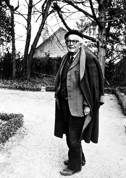 Jean Piaget, Author, 1974 Print by Everett