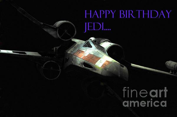 Jedi Birthday Card Print by Micah May