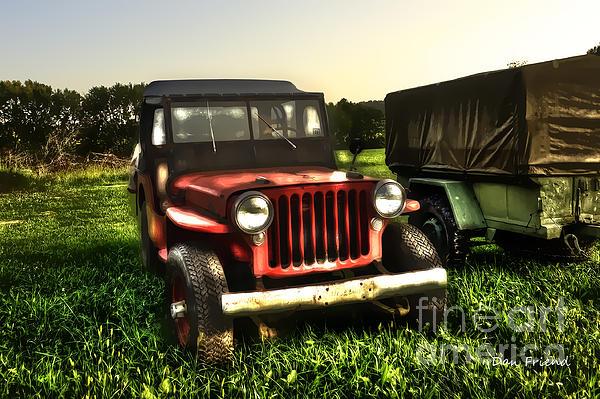 Jeep Seen Better Days Print by Dan Friend