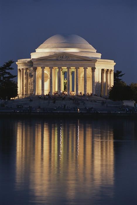 Jefferson Memorial, Night View Print by Richard Nowitz
