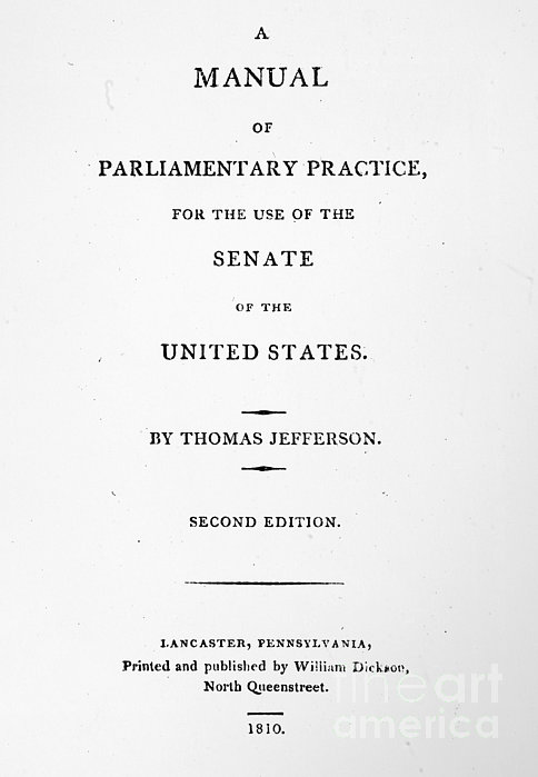 Jefferson: Title Page, 1810 Print by Granger