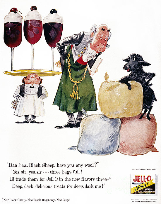 Jell-o Advertisement, 1957 Print by Granger