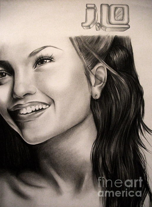Jennifer Lopez Print by Becky Ellis