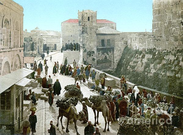Jerusalem: Bazaar, C1900 Print by Granger