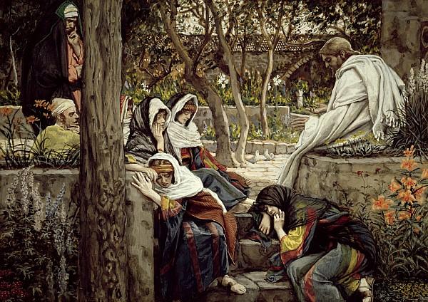 Jesus At Bethany Print by Tissot