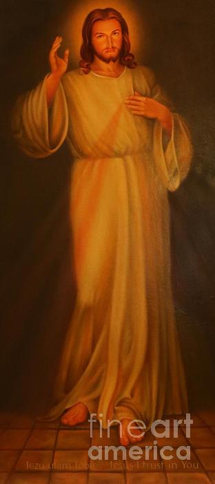Jesus I Trust In You - Jesus Christ Of Nazareth Print by Lee Dos Santos
