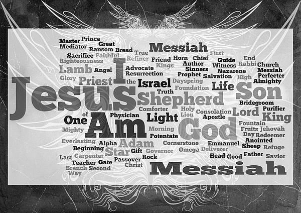 Jesus Messiah Print by Angelina Vick