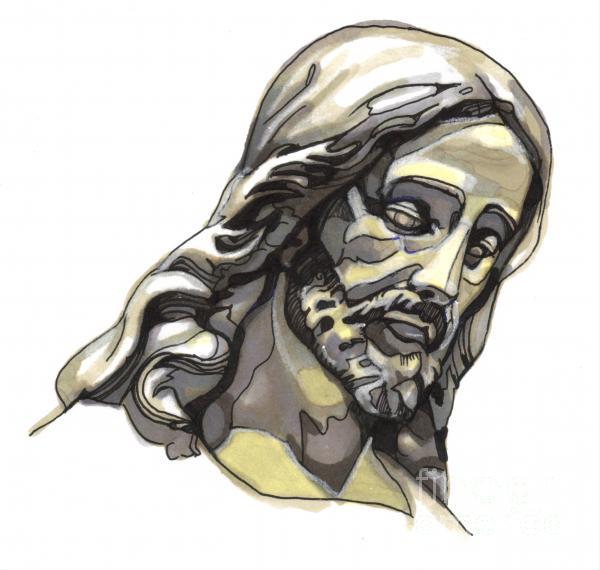 Jesus No 2 Print by Edward Ruth