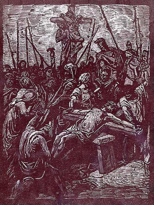 Jesus' Sacrafice Print by Robert Clement