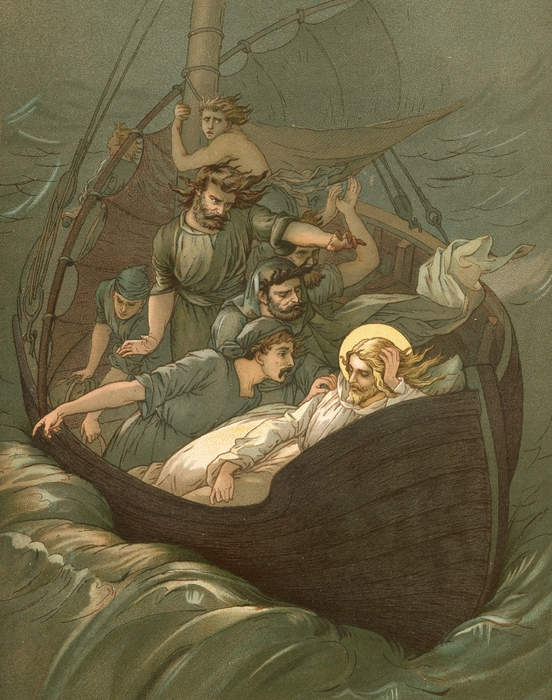 Jesus Sleeping During The Storm Print by John Lawson