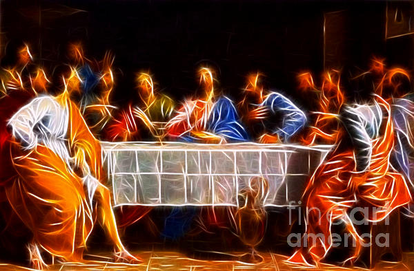 Jesus The Last Supper Print by Pamela Johnson