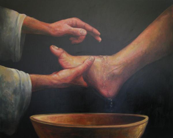 Clip Art Jesus Washing Feet