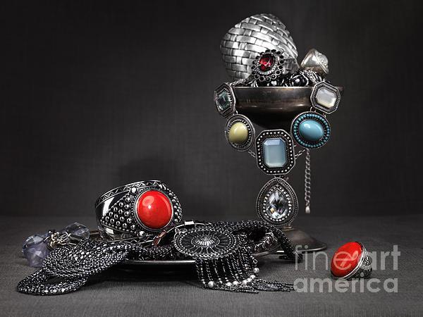 Jewellery Still Life Print by Oleksiy Maksymenko