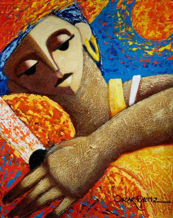 Jibara Y Sol Print by Oscar Ortiz