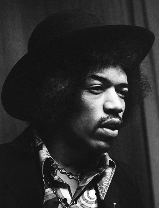 Jimi Hendrix Profile Print by Chris Walter
