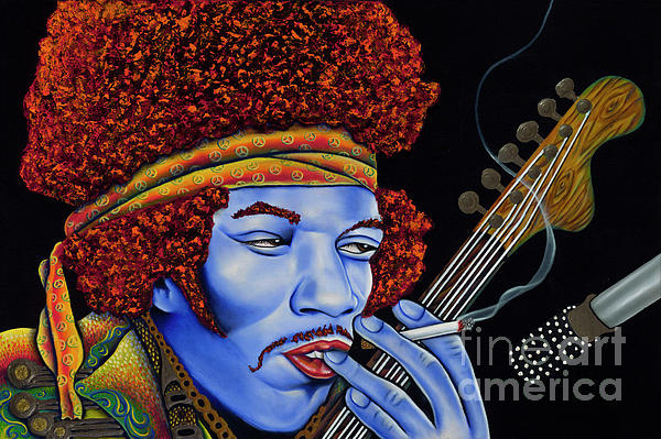 Jimi In Thought Painting  - Jimi In Thought Fine Art Print