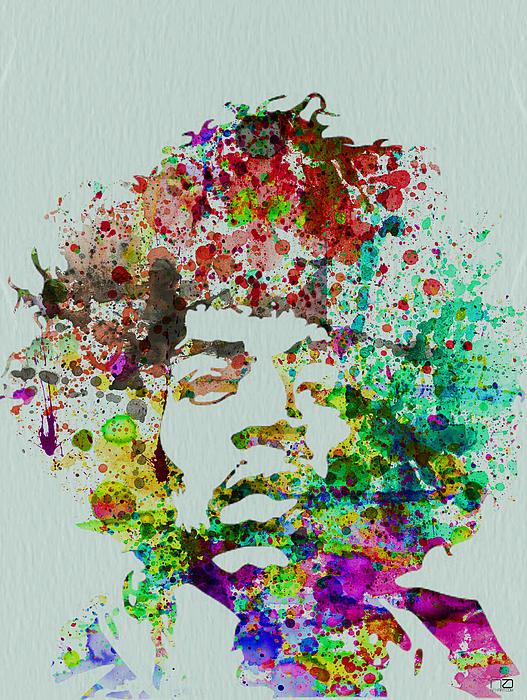 Jimmy Hendrix Watercolor Print by Naxart Studio