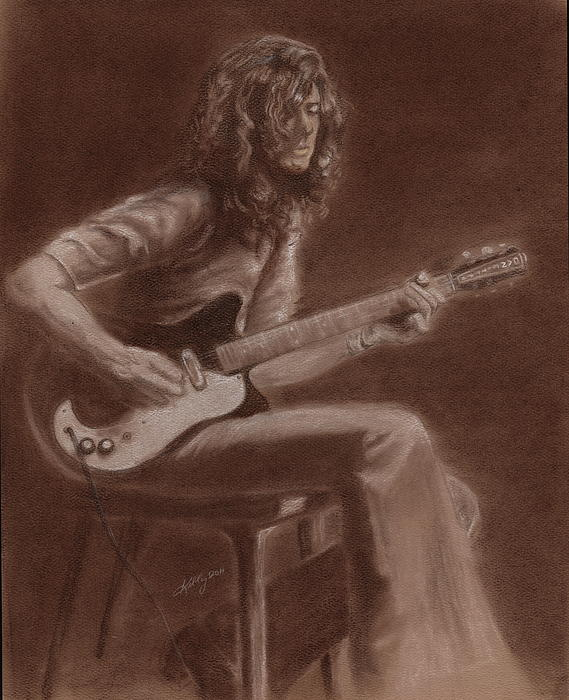 Jimmy Page Print by Kathleen Kelly Thompson
