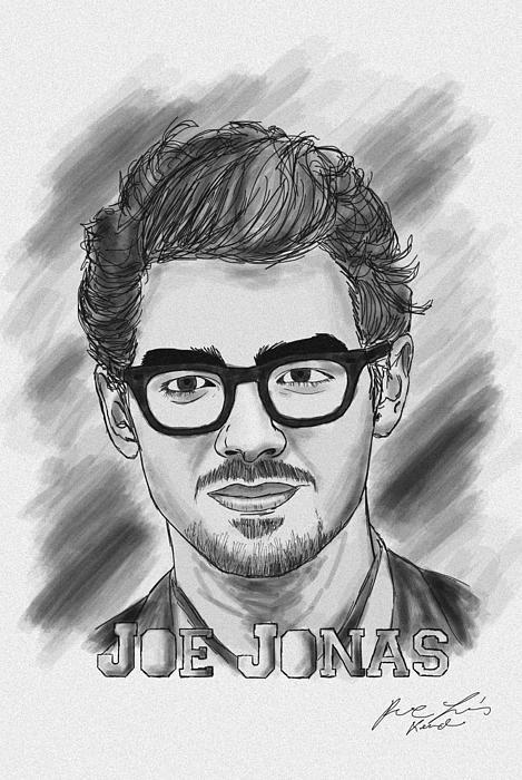 Joe Jonas Drawing Print by Kenal Louis