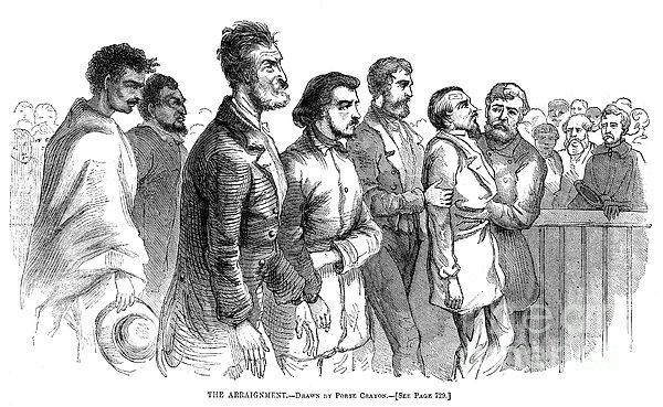 John Brown Trial, 1859 Print by Granger