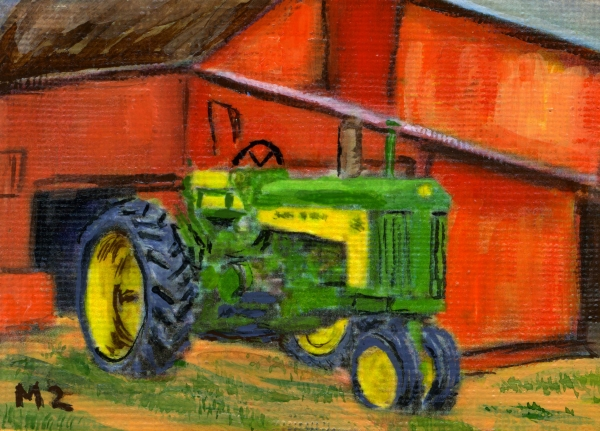 John Deere Tractor Paintings : John deere green by mary mapes