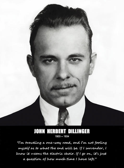John Dillinger -- Public Enemy No. 1 Print by Daniel Hagerman