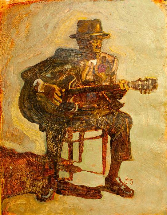 John Lee Hooker Print by Michael Facey